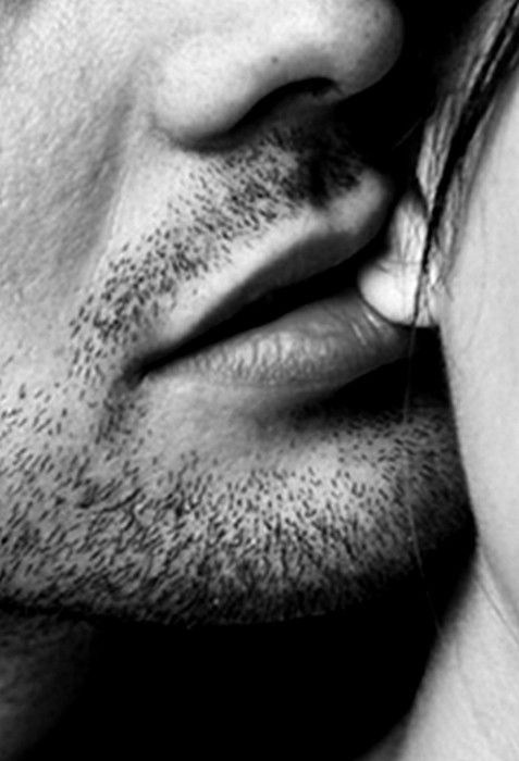 Man biting womans ear turns her on and makes her wet