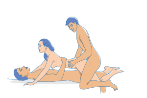 Mff threesome with double dildo and fucking The Hottest Threesome Positions To Try Tonight School Of Squirt